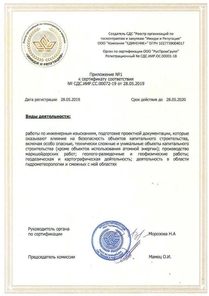 Приложение № 1 к сертификату соответствия СДС.ИИР.СС.00072-19 от 28.05.2..._page-0001